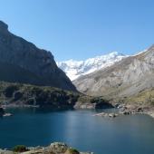 Gloriettes dam and the cirque of Estaubé