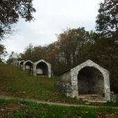 Chapels in mount Arès